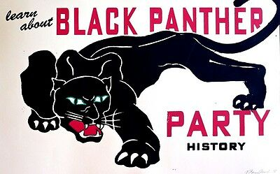 Black Panther Party History - Black Liberation - Poster Signed - A Beauty