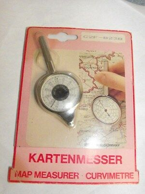 Vintage KARTENMESSER opisometer Map Measure Tool Germany Inch Foot Inches Feet
