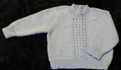 Blue Jumper With Shiny Thread (Size 0)
