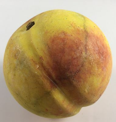 Antique Italy Italian Alabaster Marble Stone Fruit Hand Carved Large Peach Real