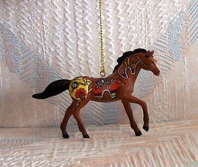 Trail Of The Painted Ponies Spirit Bear Pony Christmas Ornament