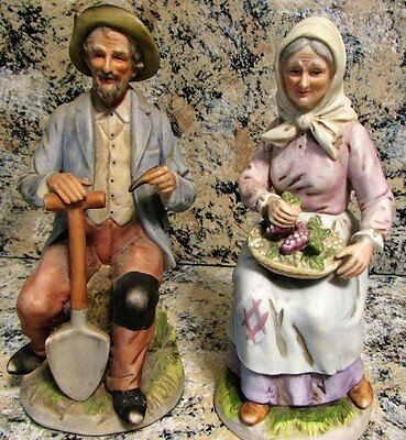 "Homco 1433 Old Couple Pair Set 8"" Sitting Home Interiors"