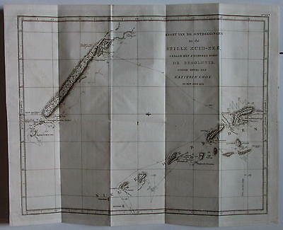 New Hebrides South Pacific Capt. Cook 2nd 1774 Voyage 1800 rare antique map