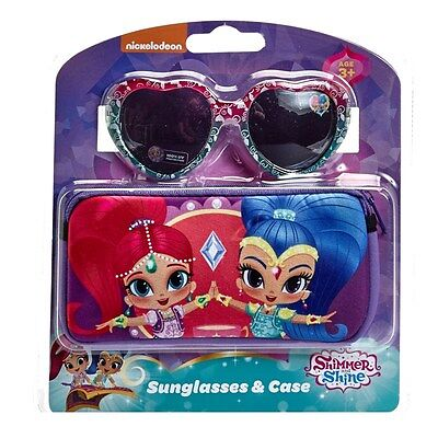 NEW Nickelodeon Shimmer and Shine Sunglasses and Case Ages 3+ 100% UV Protection