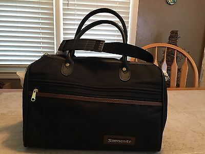 Samsonite overnight carry on bag travel black canvas carrying bag NEW
