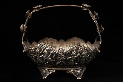 Antique Persian Hand Crafted silver Dish, 18/19th C.