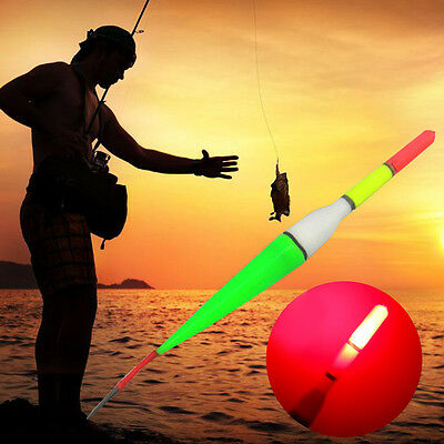 NEW Night Fishing Tackle Luminous Electronic LED Lights Floats Plastic Accessory