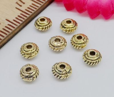 Free ship 100Pcs Gold Plated Spacer Beads For Jewelry Making 5x2.5mm