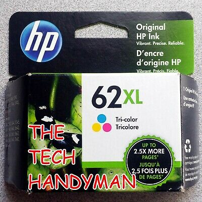 2-PACK HP GENUINE 62XL Black & Tri-Color Ink (RETAIL BOX) OFFICEJET 5745 5746
