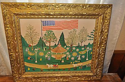 Vintage 1967 ETHEL REAM 4th of July Print, USA  23' inches Tall Collectibles