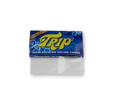 4 Packs King Size Trip 2 Clear Cellulose Transparent Cigarette Rolling Papers