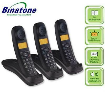 Genuine Original Binatone Lifestyle Triple Digital Cordless Telephones 1910 New