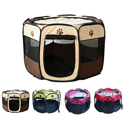 Multicolor Pet Dog Cat Kennel Playpen Tent Portable Fence Exercise Cage Animal