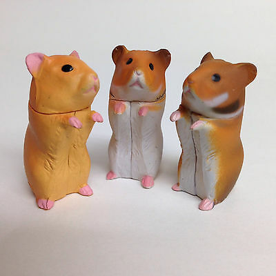 Choco Egg Miniature Figure Golden Hamsters 3 pcs Furuta Kaiyodo Japan