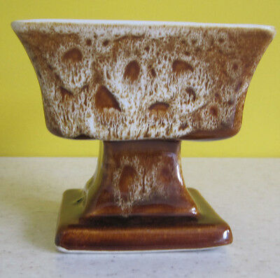 Retro Pottery Sweet Dish Bowl On Pedestal Fosters? Cornwall