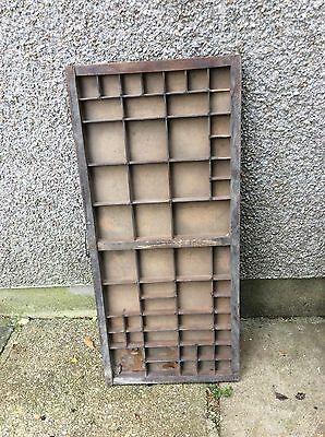 Vintage wooden printers tray drawer Great for displaying small items collections