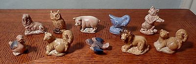 10 Different Pieces Wade Assorted Porcelain Figures England