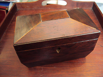 Antique Georgian Tea Caddy Box for Restoration, Sarcophagus, Ideal Chess Set