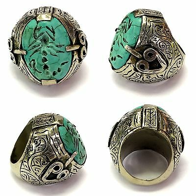 Very beautiful old  Scorpion  turquoise ring