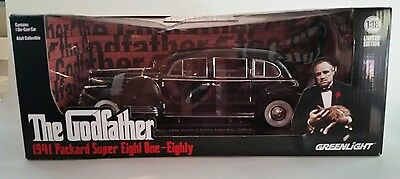 """The Godfather 1941 Packard Super Eight One-Eighty 1:18 Diecast Car """"NEW"""""""