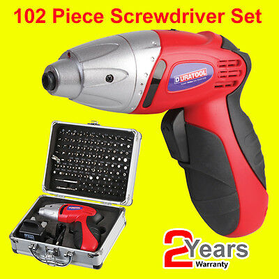 Electric Screwdriver 102Pc Rechargeable Cordless Set 3.6 V Power Bits Driver Kit