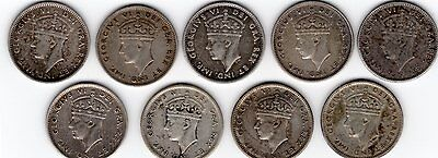Newfoundland Canada Ten 10 Cent George VI – 9 different dates