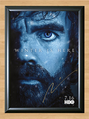 Game of Thrones Peter Dinklage S7 Signed Autographed A4 Photo Poster Memorabilia