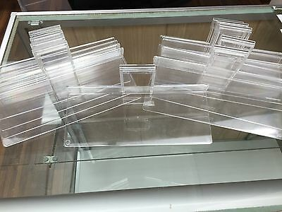 Flat Acrylic Shoe Shelf For Gridwall 4X10 Sold By The Piece Euc