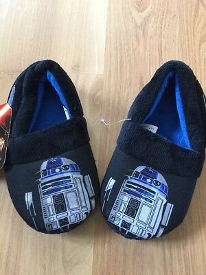 Boy's Toddler's Star Wars Shoes Slippers NWT Size 7 8