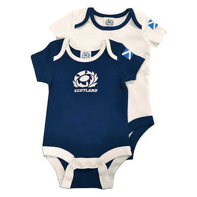 Official Licensed Rugby Product Scotland RFU 2PK Bodysuit 6 / 9 Months Fan New