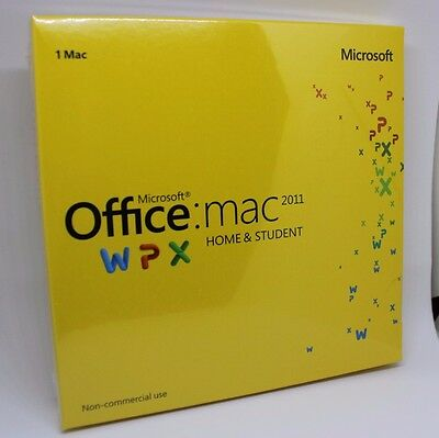 Factory Sealed! Microsoft Office for Mac 2011 Home and Student (CD+Key Code)