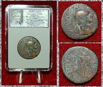 Ancient Roman Empire Coin Of DOMITIAN Virtus Holding Spear On Reverse