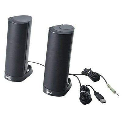 DELL AX210CR Stereo Stand Black - portable speakers (2.0 channels, Built-in, 1-w