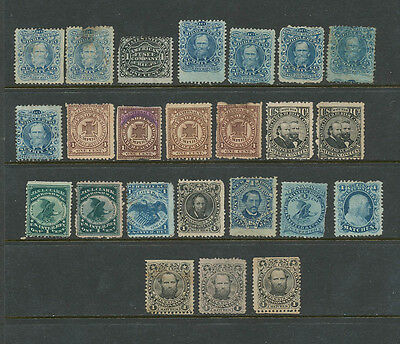LOT OF PRIVATE DIE MATCH TAX STAMPS, Used