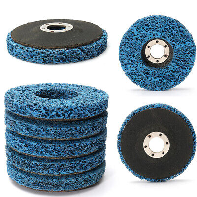 5x 110mm/4.5'' Poly Strip Wheel Paint Rust Removal Clean Angle Grinder Discs