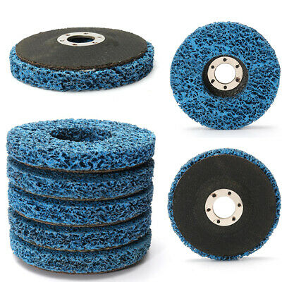 5x 115mm/4.5'' Poly Strip Wheel Paint Rust Removal Clean Angle Grinder Discs