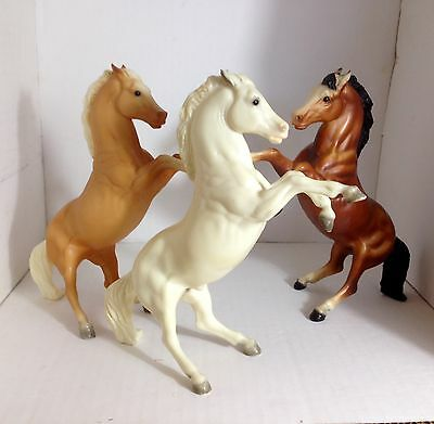Set of 3 Vintage Breyer Rearing Stallions