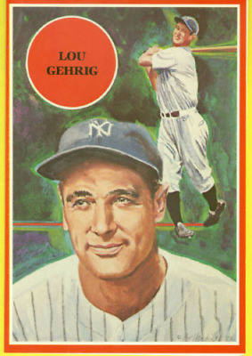 1982 BHCR Baseball Sports Legends #3 Lou Gehrig (5x7 Jumbo Card)