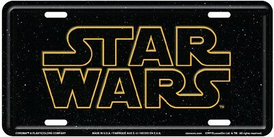 Star Wars Text Stamped Metal License Plate