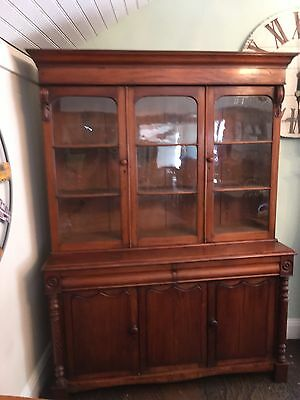 Antique Victorian Mahogany, Bookcase, kitchen, housekeepers,cupboard,furniture