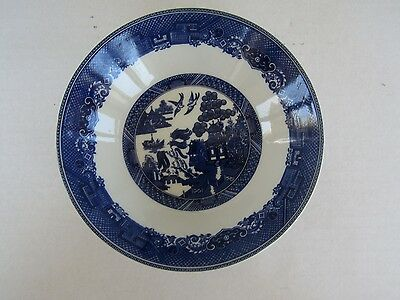 6- Johnson Bros BLUE WILLOW England Sauce/Fruit Dishes/Bowls  MINT!!!!