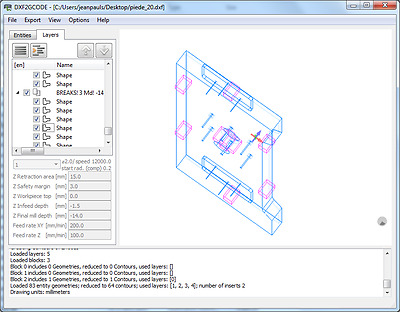 DXF2GCODE (CONVERT 2D DXF, PDF Drawings to CNC Machine G-Code