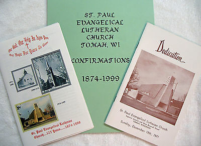 Tomah WI St. Paul Lutheran Church Dedication, Confirmation,125th Annv Booklets
