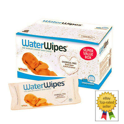WaterWipes Chemical Free Baby Wipes, 9 Packs x 60 Wipes (540 Wipes)