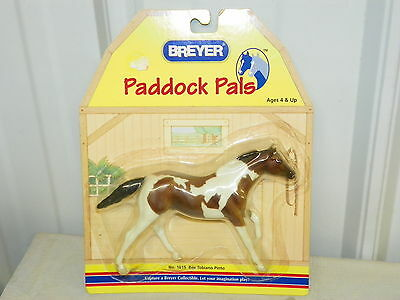 """BREYER #1615 Paddock Pals Bay Tobiano Paint Pinto Horse 6"""" x 5"""" New in Package"""