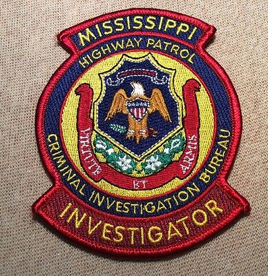 MS Mississippi Highway Patrol Criminal Investigation Bureau Patch (RD)
