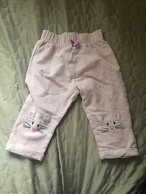 Monsoon Baby Girl Mouse Trousers 6-12 Months