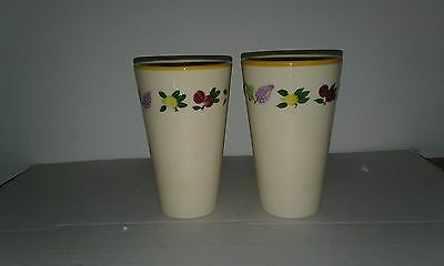 Set Of 2 Franciscan Fruit (Small Fruit) Tumblers