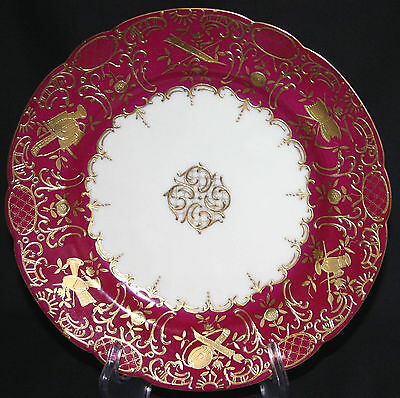 Ovington Brothers Austrian Antique Porcelain Plate > Exquiesite Gold Gilt Work