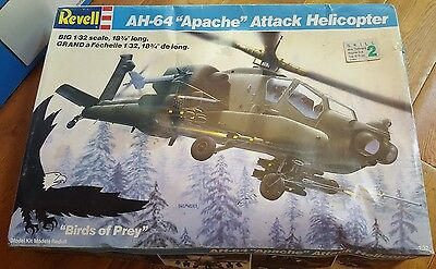 "1987 Revell Model Kit, AH-64 ""Apache"" Attack Helicopter, 1/32, # 4575"